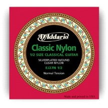 D'Addario Classic Nylon ½ Size Classical Guitar Strings EJ27N ½ Normal